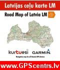KurTuEsi Latvijas ceļu karte LM