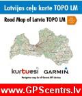 KurTuEsi Latvijas ceļu karte TOPO LM